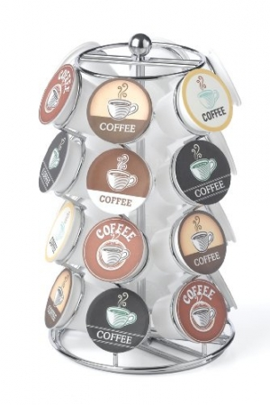 ihocon: Nifty 5724 Coffee Pod Carousel, Holds 24 K-Cup Packs咖啡膠囊架 - 可放24個