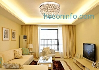 ihocon: Crystal Ceiling Light Flush Mount 天花板燈