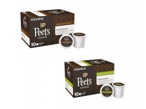 ihocon: Peet's Coffee House Blend Dark Roast Coffee K-Cups, 10pk 咖啡膠囊 - 2種口味