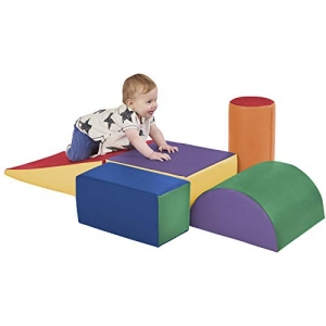 ihocon: ECR4Kids SoftZone Climb and Crawl Foam Play Set for Toddlers and Preschoolers (5-Piece) 兒童攀爬和爬行軟墊