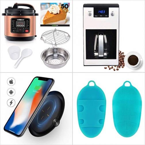[Amazon折扣碼] 多功能電壓力鍋, 可程序咖啡機, 手機人無線充電板, 矽膠洗澡刷 額外折扣!