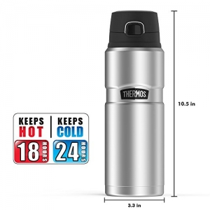 ihocon: Thermos Stainless King 24 Ounce Drink Bottle, Stainless Steel 熱水瓶不銹鋼保温水瓶