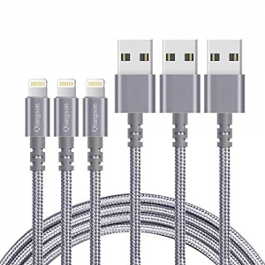 ihocon: Qiangson iPhone Charging Cable 3PACK 6ft 手機充電線
