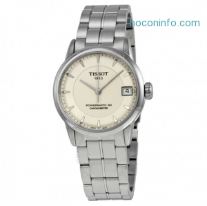 ihocon: TISSOT Luxury Automatic Ivory Dial Ladies Watch,T086.208.11.261.00