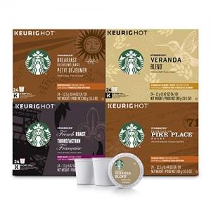 Starbucks Black Coffee K-Cup星巴克咖啡膠囊 96個 $54.39免運(原價$67.99)