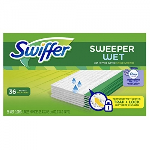 ihocon: Swiffer Sweeper Wet Mop Refills for Floor Mopping and Cleaning, 36 Count  濕拖地巾