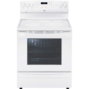 ihocon:  Kenmore Elite 95052 6.1 cu. ft. Electric Range in White, includes delivery and hookup