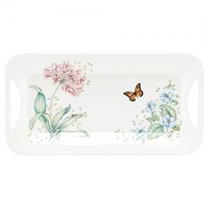 ihocon: Lenox Butterfly Meadow Melamine Hors D'Oeuvre Tray, White 托盤