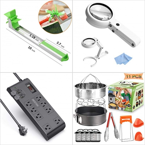 [Amazon折扣碼] 切西瓜神器, LED照明放大鏡, 電湧保護延長線, 壓力鍋配件 額外折扣!