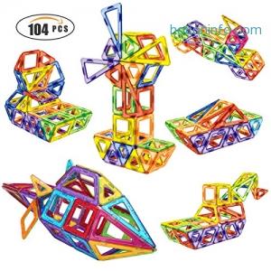 ihocon: Shinehalo 104PCS Magnetic Blocks磁性積木
