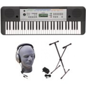 ihocon: Yamaha YPT-255 61-Key Keyboard Pack with Headphones, Power Supply and Stand 電子琴+耳機+琴架
