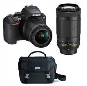 ihocon: Nikon D3500 Two Lens Kit with AF-P DX NIKKOR 18-55mm & AF-P DX NIKKOR 70-300mm with DSLR Bag