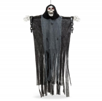 ihocon: 5ft Grim Reaper Halloween Decor w/ Shackles, Chains, Glowing Eyes