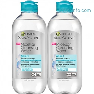 ihocon: Garnier Skinactive Micellar Cleansing Water for Waterproof Makeup, 2 Count