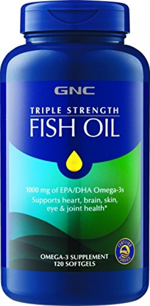 ihocon: GNC Triple Strength Fish Oil, 1000mg of EPADHA Omega 3s, 120 Count 三倍強度魚油