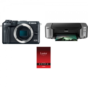 Canon EOS M6無鏡單反相機機身 + Canon PIXMA印表機 + Canon 相紙50張 $488.99免運(原價$1,188.99, $350 canon rebate)