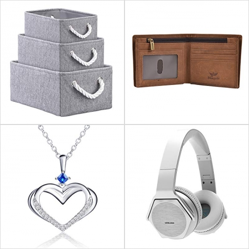 [Amazon折扣碼] 布質收納箱, 男士皮夾RFID防資料盜竊, 純銀項鍊, 藍芽無線耳機 額外折扣!