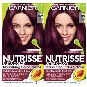ihocon: Garnier Hair Color Nutrisse Ultra Color Nourishing Creme, BR2 Dark Intense Burgundy, 2 Count 卡尼爾染髮劑