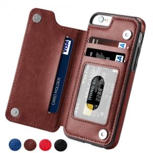 ihocon: iPhone 6 /7 / 8 / X / Samsung S7 /Samsung S8+ / Samsung S9+ 皮夾式手機套(多色可選)