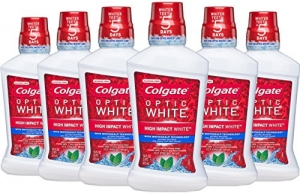 ihocon: Colgate Optic White Whitening Mouthwash, Fresh Mint - 473 mL (6 Pack) 高露潔美白漱口水6瓶