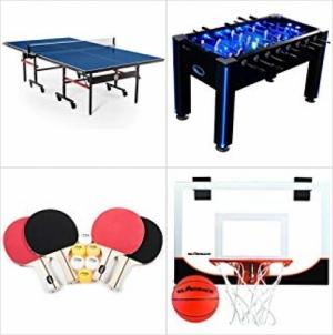 [Amazon今日特賣] 室內遊戲-乒乓球, Foosball, Air Hockey, 飛標, 籃球…特價40% off