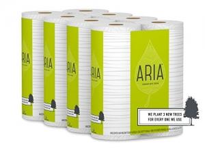 ihocon: Aria Premium, Earth Friendly Toilet Paper, 24 Mega Rolls, 24 = 96 Regular Rolls, 4 Packs of 6 Rolls 捲筒衛生紙