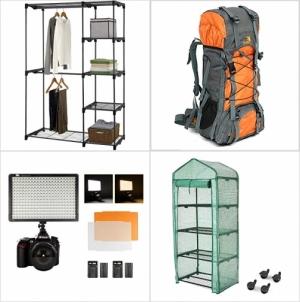 [Amazon折扣碼] 衣帽收納架, 登山背包, 相機補光燈, 4層温室 額外折扣!