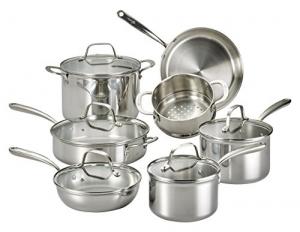 ihocon: Lagostina Q939SC64 Tri-Ply Stainless Steel Cookware Set , 12-Piece不銹鋼鍋組