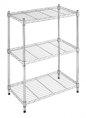 ihocon: Whitmor Supreme Small 3 Tier Shelving Adjustable Chrome 3層金屬置物架