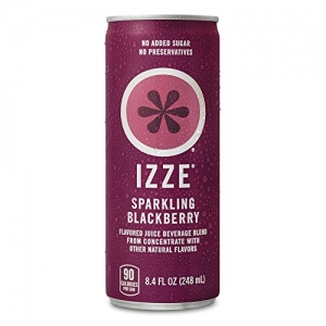ihocon: IZZE Sparkling Juice, Blackberry, 8.4 oz Cans, 24 Count 氣泡果汁,黑莓口味