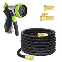 ihocon: HOOMIL 50 Feet Expandable Water Hose, 8 Adjustable Watering Patterns Spray Nozzle 伸縮澆花水管, 含噴水頭