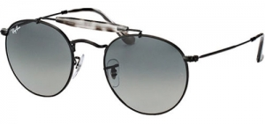 ihocon: Ray-Ban Men's Vintage Round Black Sunglasses w/ Gradient Lens - RB3747 153 7150 男士太陽鏡
