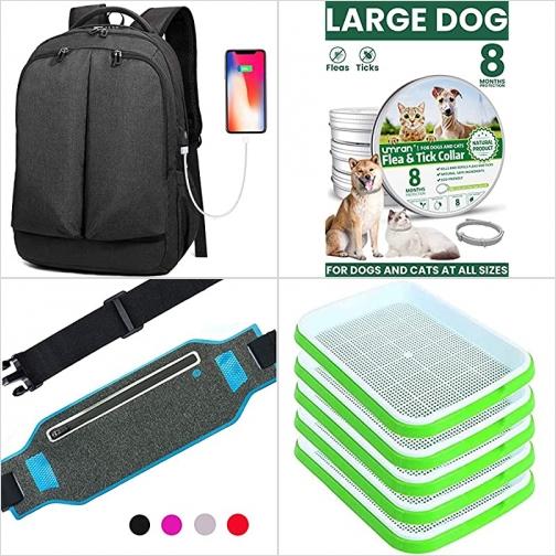 [Amazon折扣碼] 電腦背包, 寵物防蚤頸圈, 運動腰包, 芽菜盤 額外折扣!