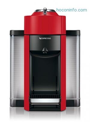 ihocon: Nespresso Vertuo Evoluo Coffee and Espresso Machine by De'Longhi, Red