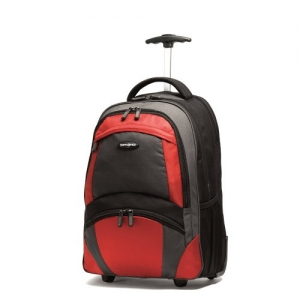 ihocon: Samsonite Wheeled Backpack, Black/Orange, One Size 拉桿背包