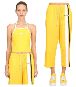 ihocon: CONVERSE X MADEME, Mademe cotton halter top, Yellow