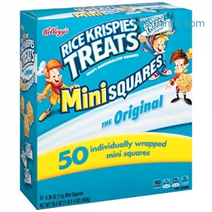 ihocon: Kellogg's Rice Krispies Treats, Original Mini Squares Snack Bars, 0.39 Ounce Package (Pack of 50)