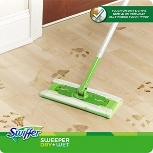ihocon: Swiffer Sweeper Cleaner Dry and Wet Mop Starter Kit for Cleaning Hardwood and Floors, Includes: 1 Mop, 7 Dry Cloths, 3 Wet Cloths