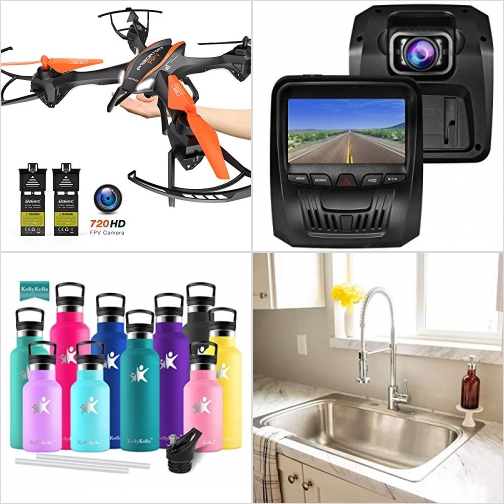 [Amazon折扣碼] 空拍機, 行車記錄器, 不銹鋼保温吸管水瓶, 廚房水龍頭 額外折扣!