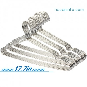 ihocon: Stainless Steel Clothes Hangers, 30 Pack不銹鋼衣架
