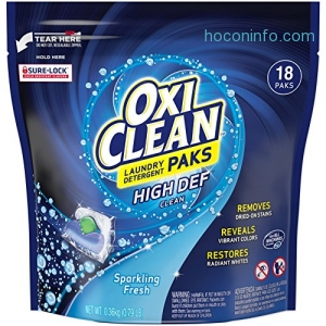 ihocon: Oxiclean Laundry Detergent HD Pack, Sparkling Fresh Scent, 18 Count