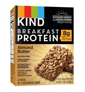 ihocon: KIND Breakfast Protein Bars, Almond Butter, Gluten Free, Non GMO, 1.76oz, 32 Count