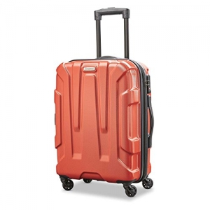 ihocon: Samsonite Centric Expandable Hardside Carry On Luggage with Spinner Wheels, 20 Inch, Burnt Orange  硬殼行李箱