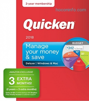 ihocon: Quicken Deluxe 2018 – 27-Month Personal Finance & Budgeting Software [PC/Mac Box] – Amazon Exclusive