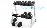 ihocon: Weider 200lb. Dumbbell Kit with Rack