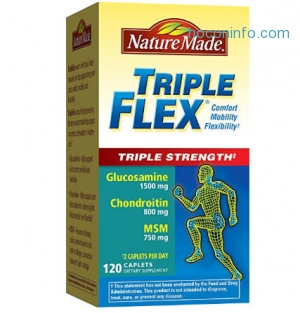 Nature Made TripleFlex Triple Strength 3倍強效120粒$20.07免運(原價$26.76, 25% Off)
