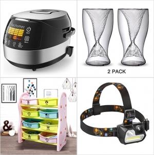 [Amazon折扣碼] 電飯鍋, 美人魚杯, 玩具收納架, LED頭燈 額外折扣!