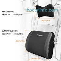 ihocon: 2 in 1 Memory Foam Lumbar Cushion with Neck Pillow 記憶棉腰墊+頸枕