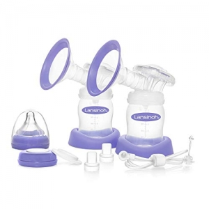 ihocon: Lansinoh Extra Pumping Set Pump Parts with 2 Breast Cups, 2 Collection Bottles, Tubing & Parts 擠奶器