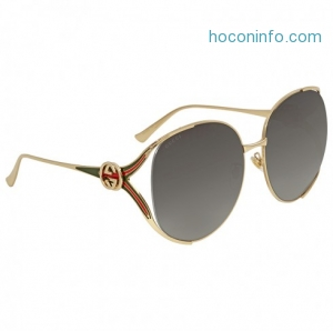 ihocon: GUCCI Grey Gradient Round Sunglasses GG0225S 001